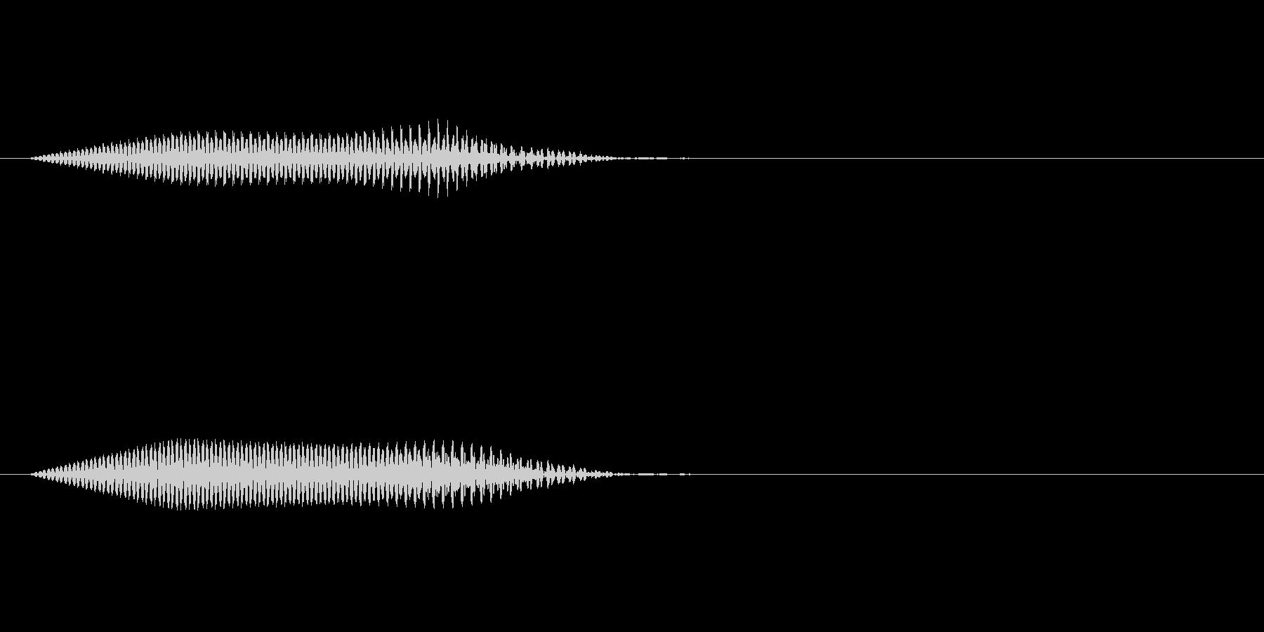 拭く音キュッの未再生の波形