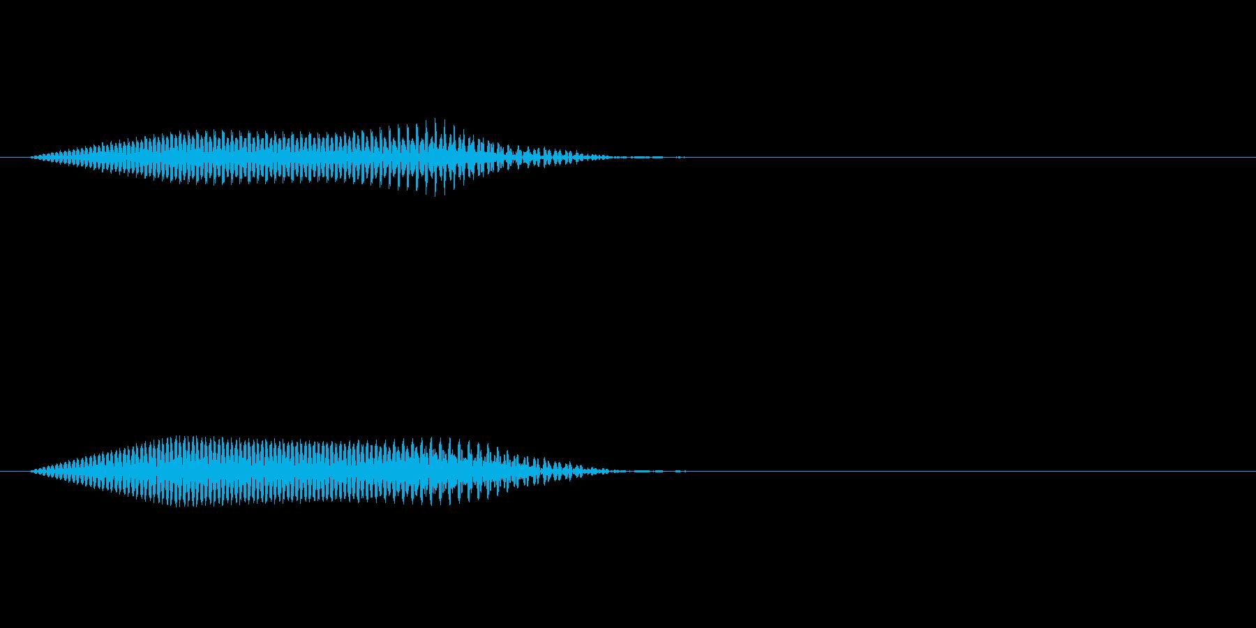 拭く音キュッの再生済みの波形