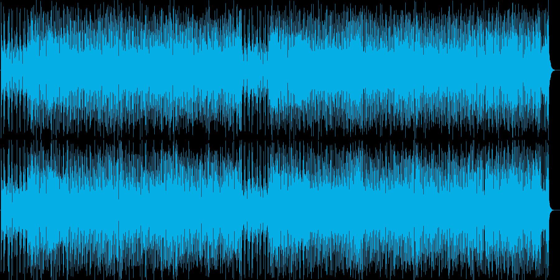 弾ける爽やかさシンセポップ曲の再生済みの波形