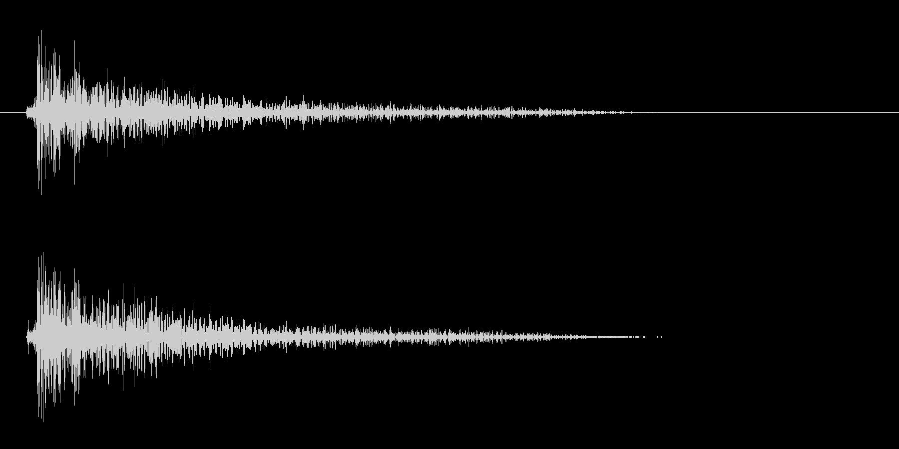 リムショット(短め)の未再生の波形