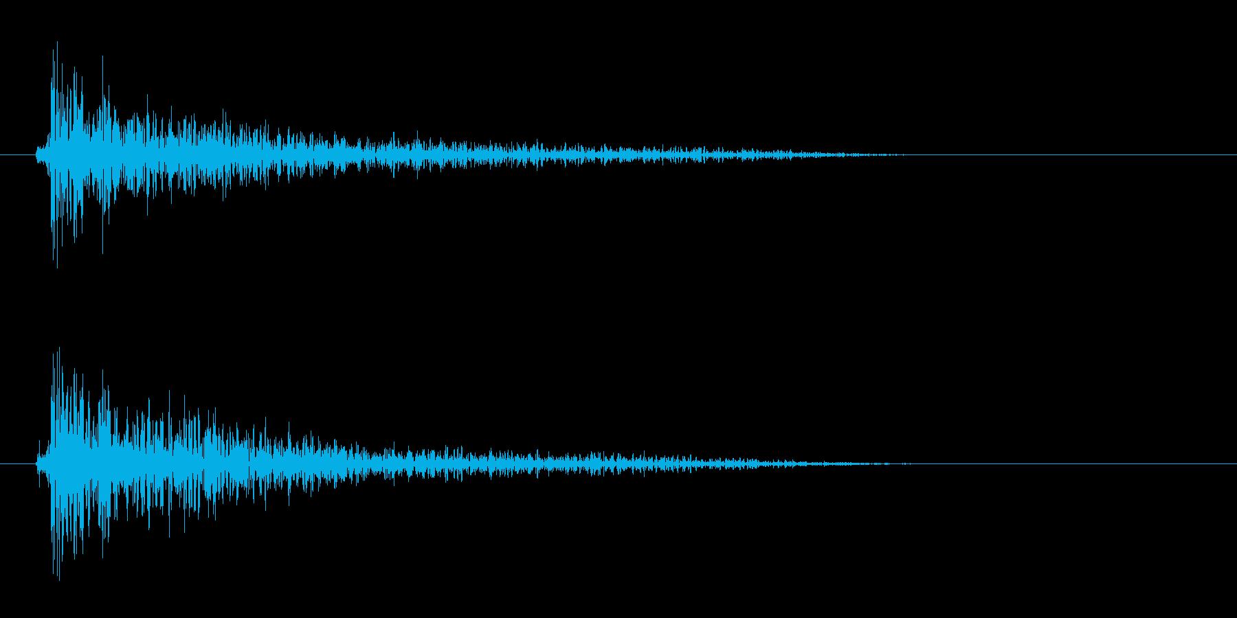リムショット(短め)の再生済みの波形