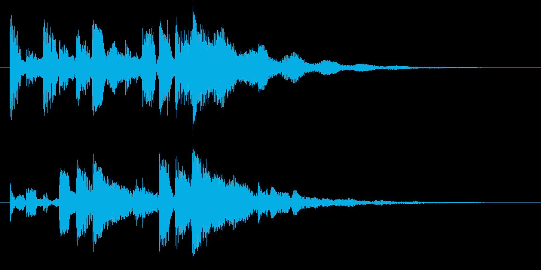 オープニングに最適なロゴ・ジングルの再生済みの波形