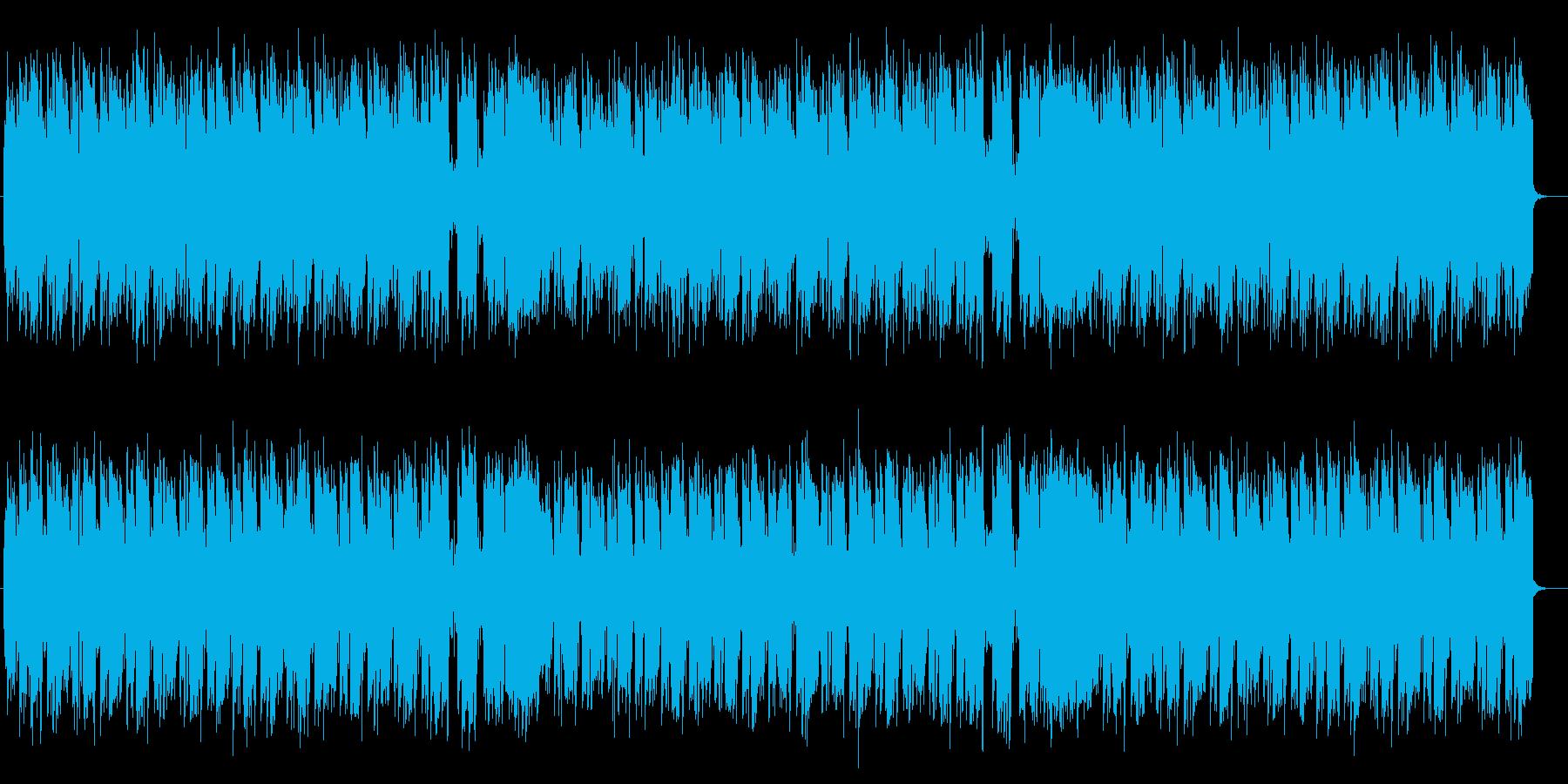 軽快なリズムのミディアムポップスの再生済みの波形