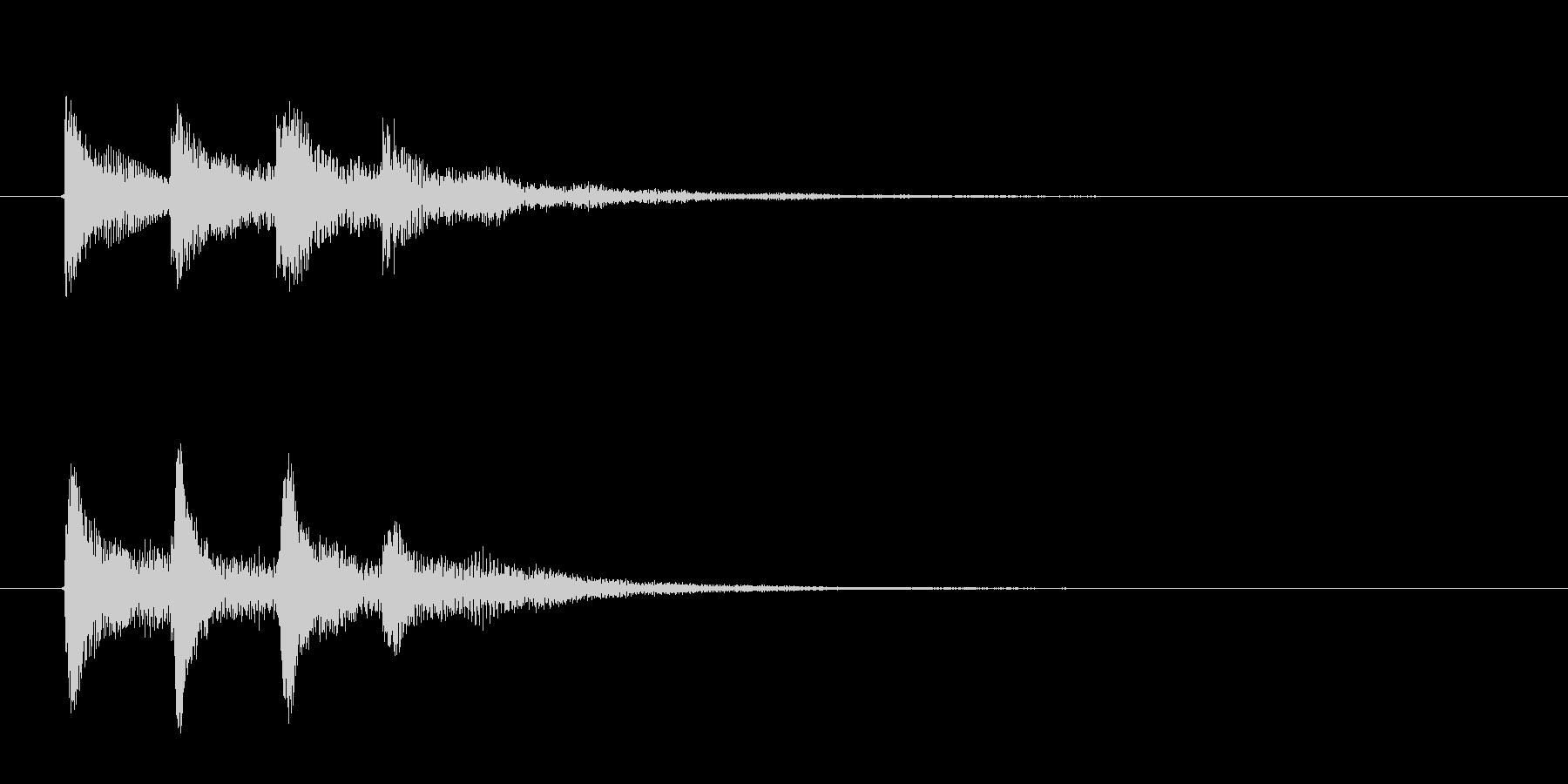 IT系のサウンドロゴ(効果音)の未再生の波形
