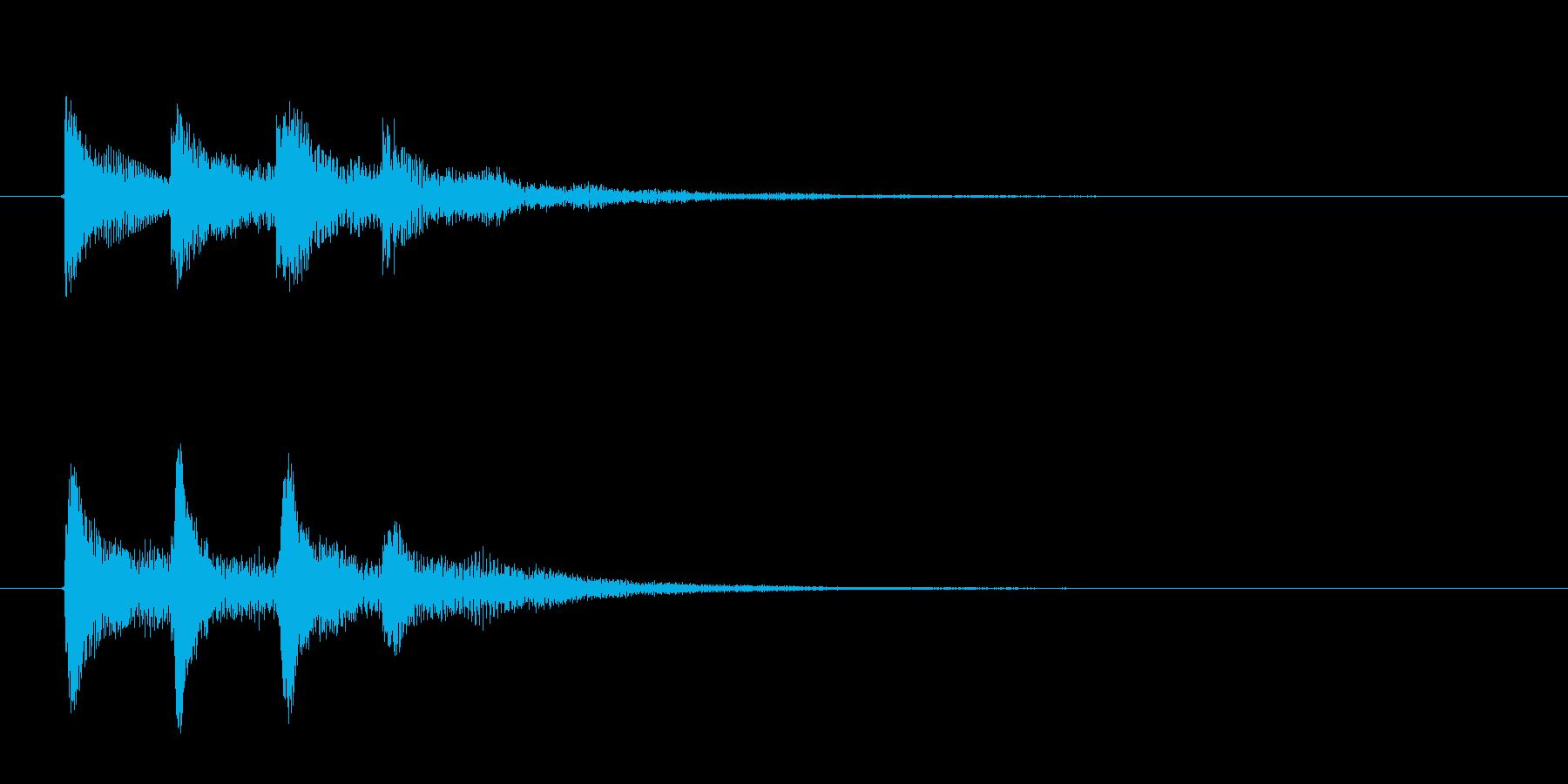 IT系のサウンドロゴ(効果音)の再生済みの波形