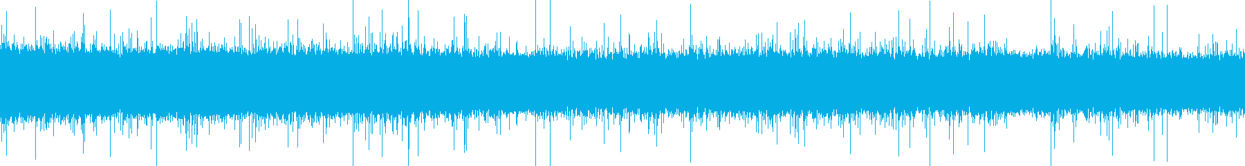 ザーッ(土砂降りの雨音)の再生済みの波形