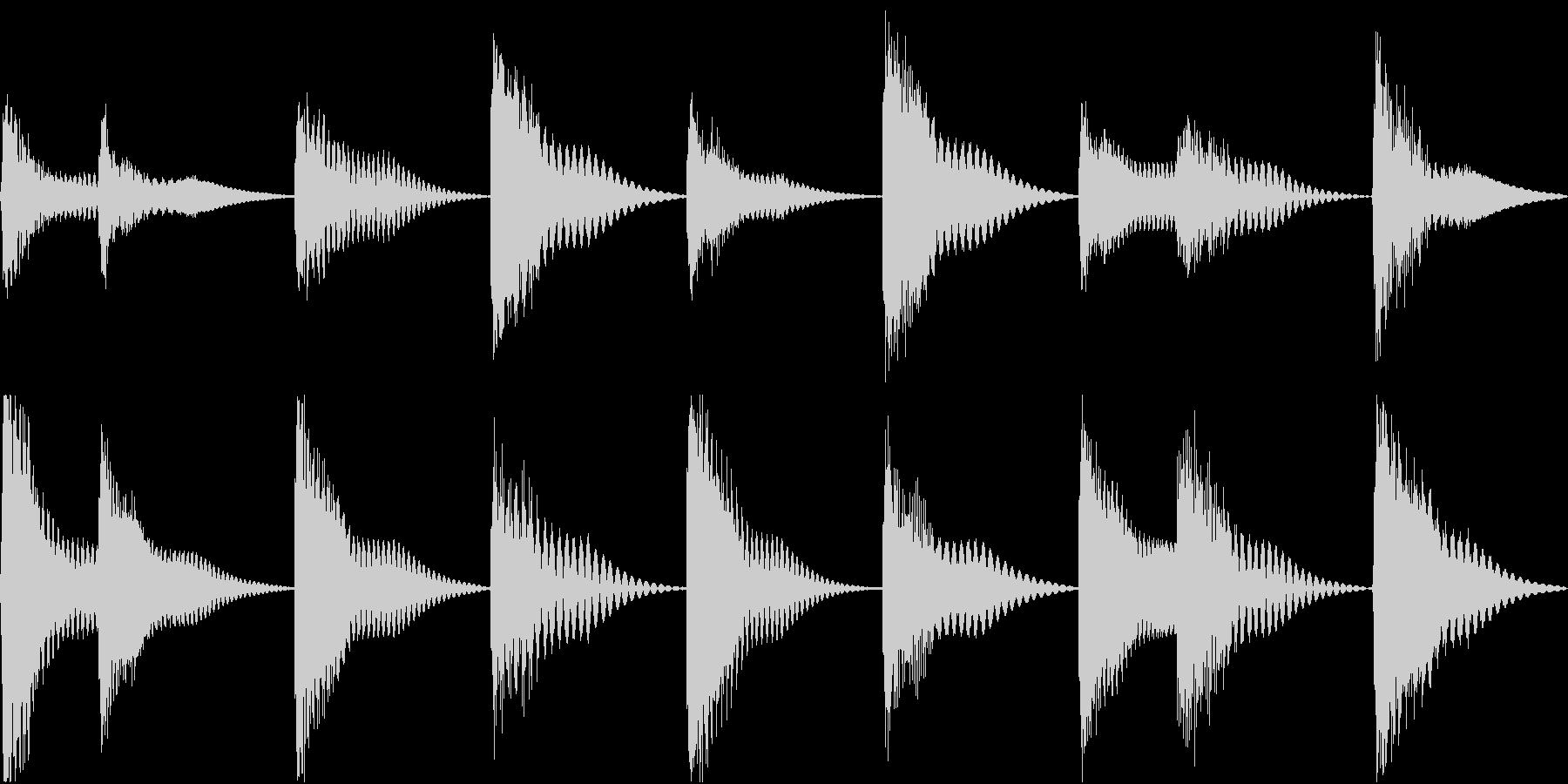 着信音 ループ お知らせ 通知 海 5の未再生の波形