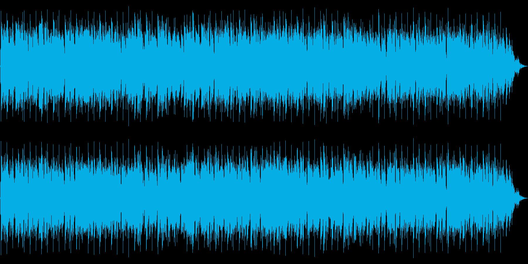 明るい感じのテクノポップの再生済みの波形