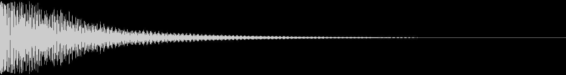 ドドン(和太鼓2発)の未再生の波形