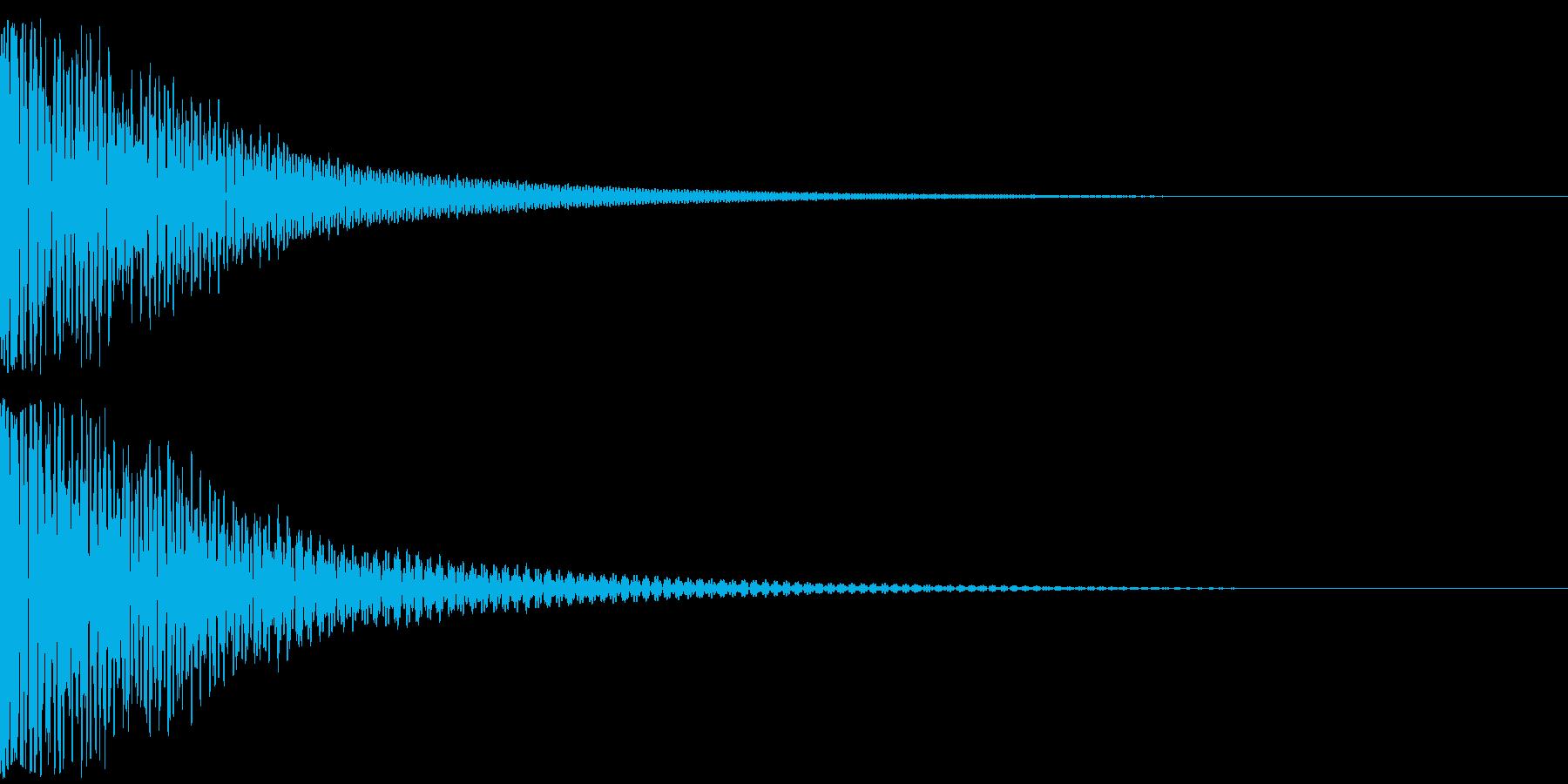 ドドン(和太鼓2発)の再生済みの波形