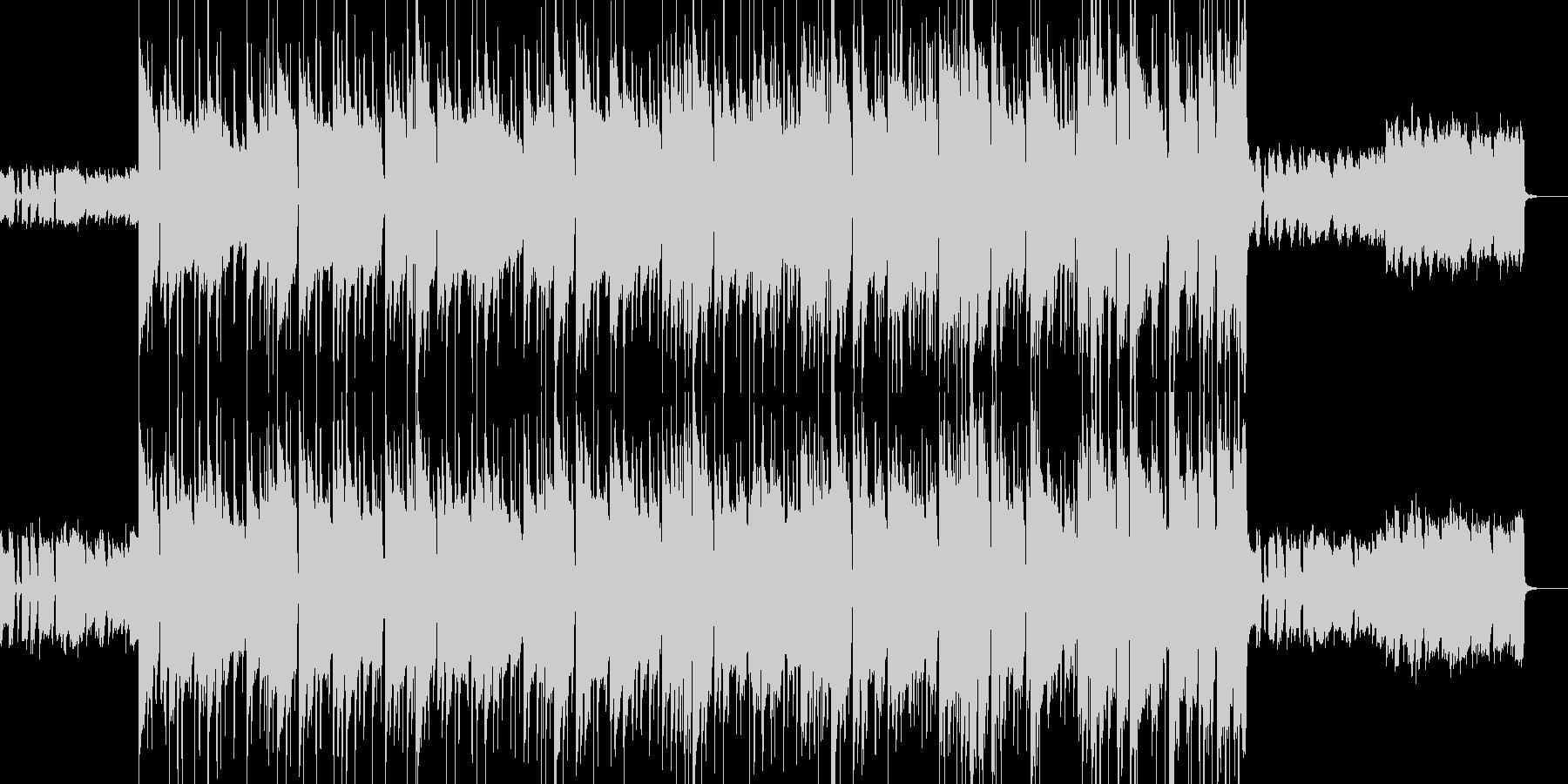 映像・オープニング向けの王道ロックギターの未再生の波形