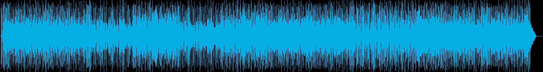 アップテンポの陽気で明るいシンセの曲の再生済みの波形