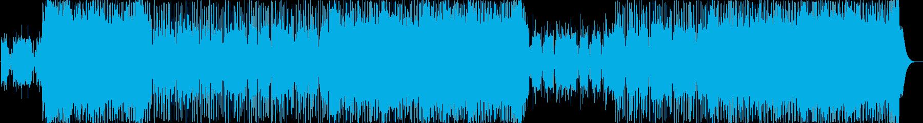 ギターとシンセが絡み合うデジタルロックの再生済みの波形