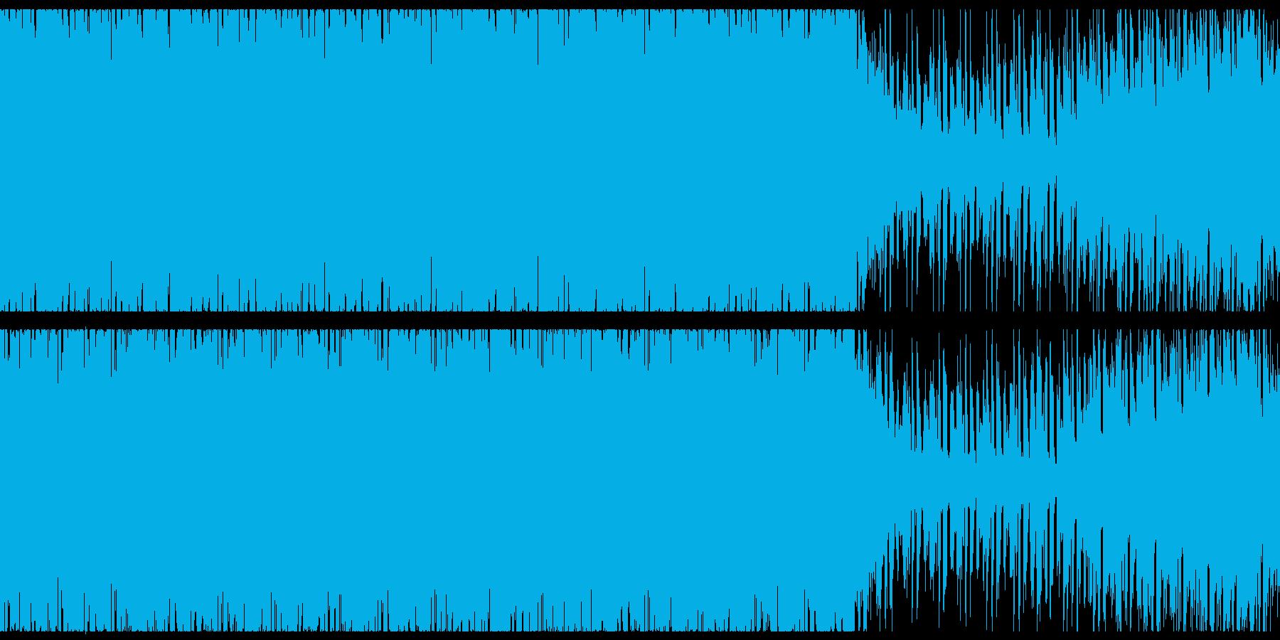 オシャレな4つ打ちピアノハウス-ループの再生済みの波形