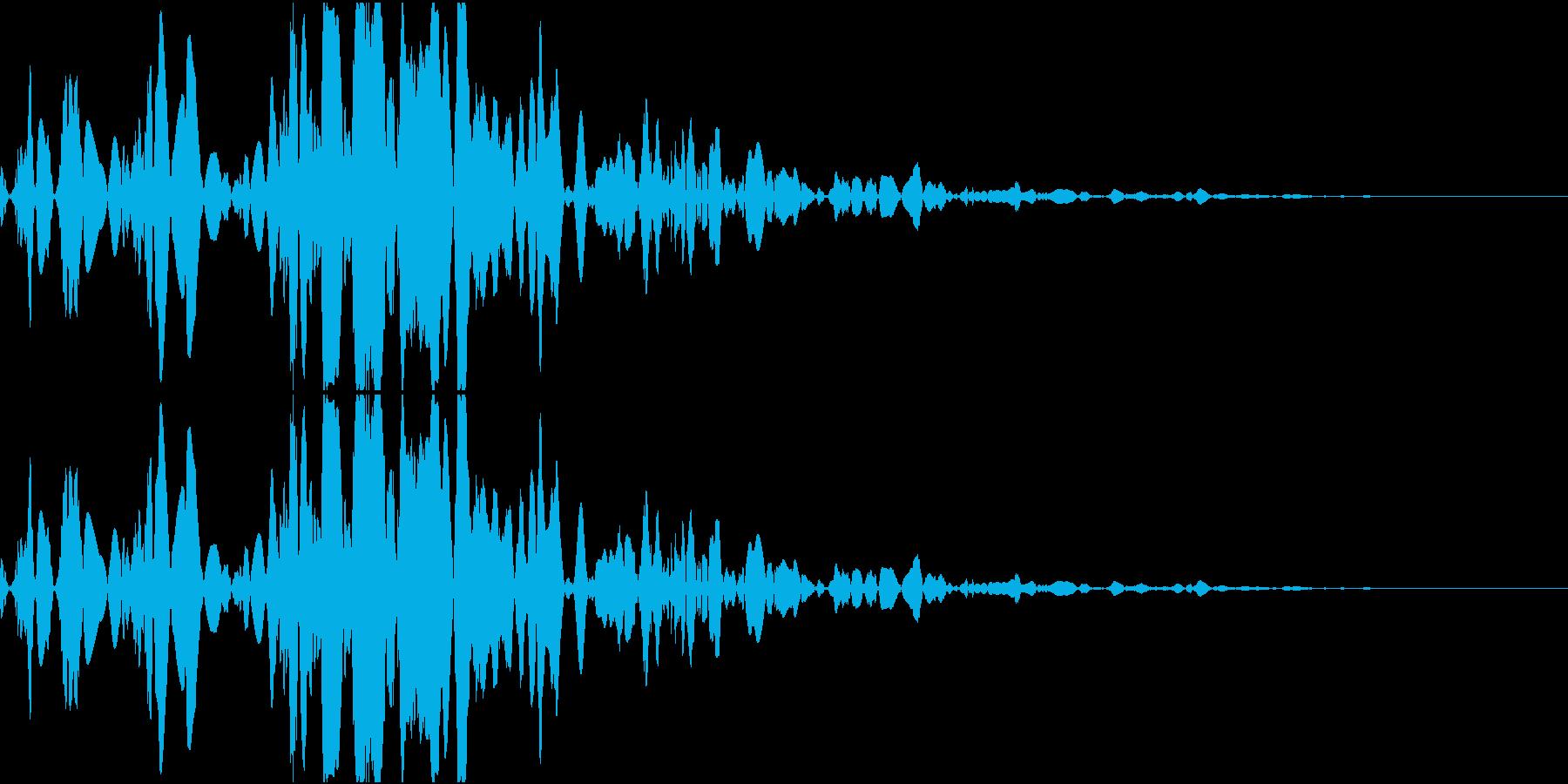 ベチャッ10(泥・液体系のアクション音)の再生済みの波形