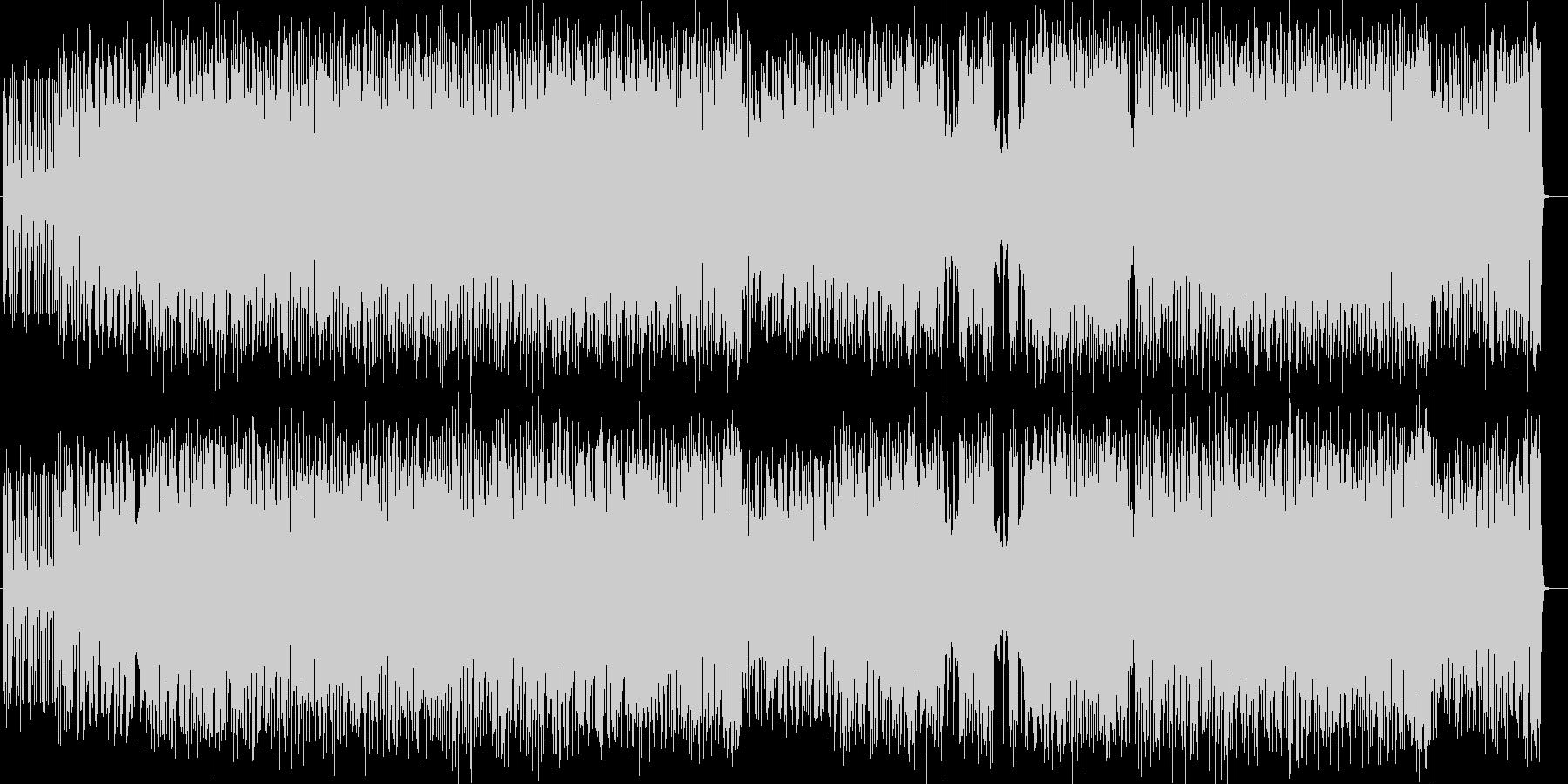激しいギターシンセロックサウンドの未再生の波形