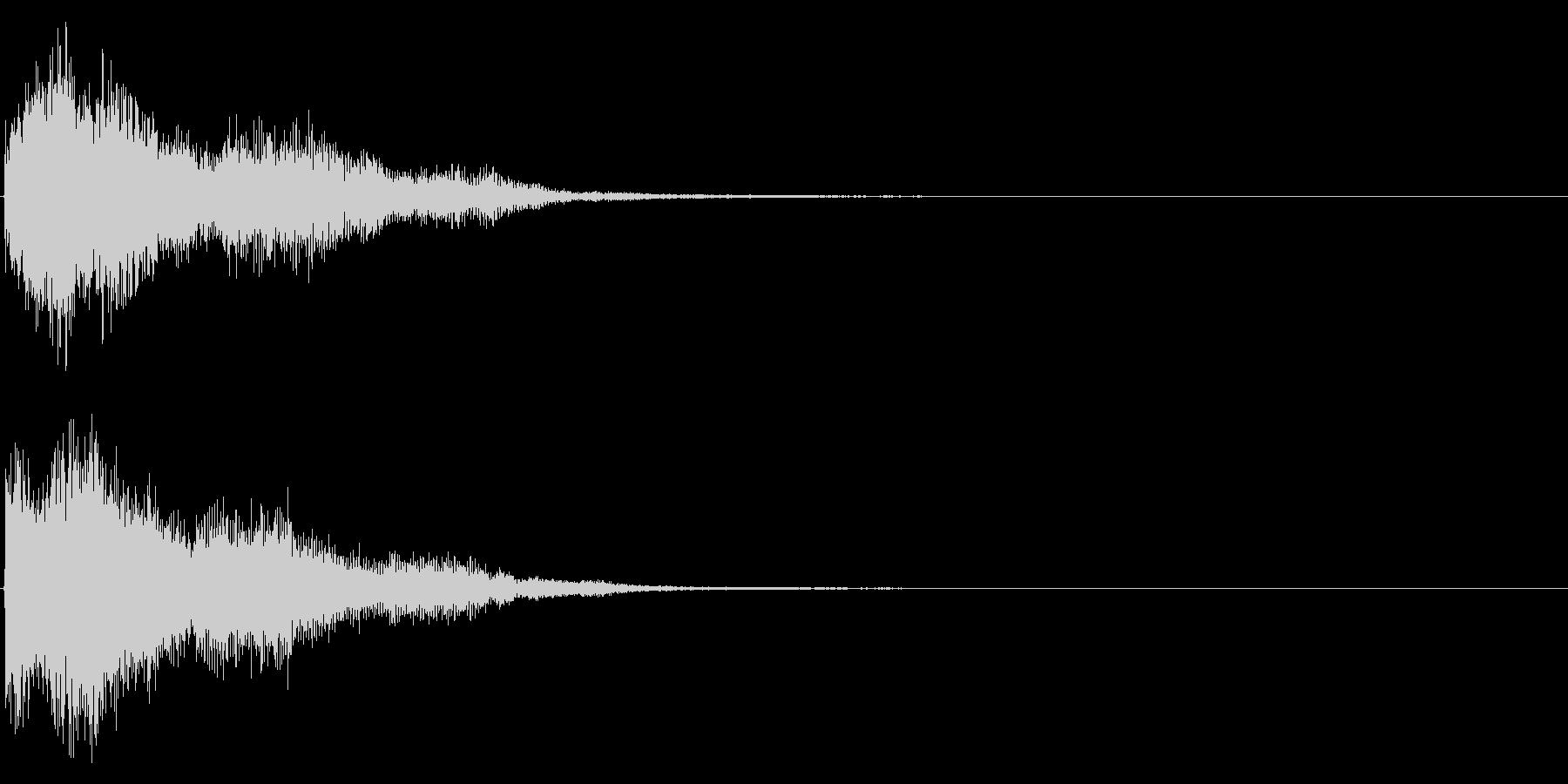 ゲームスタート、決定、ボタン音-065の未再生の波形
