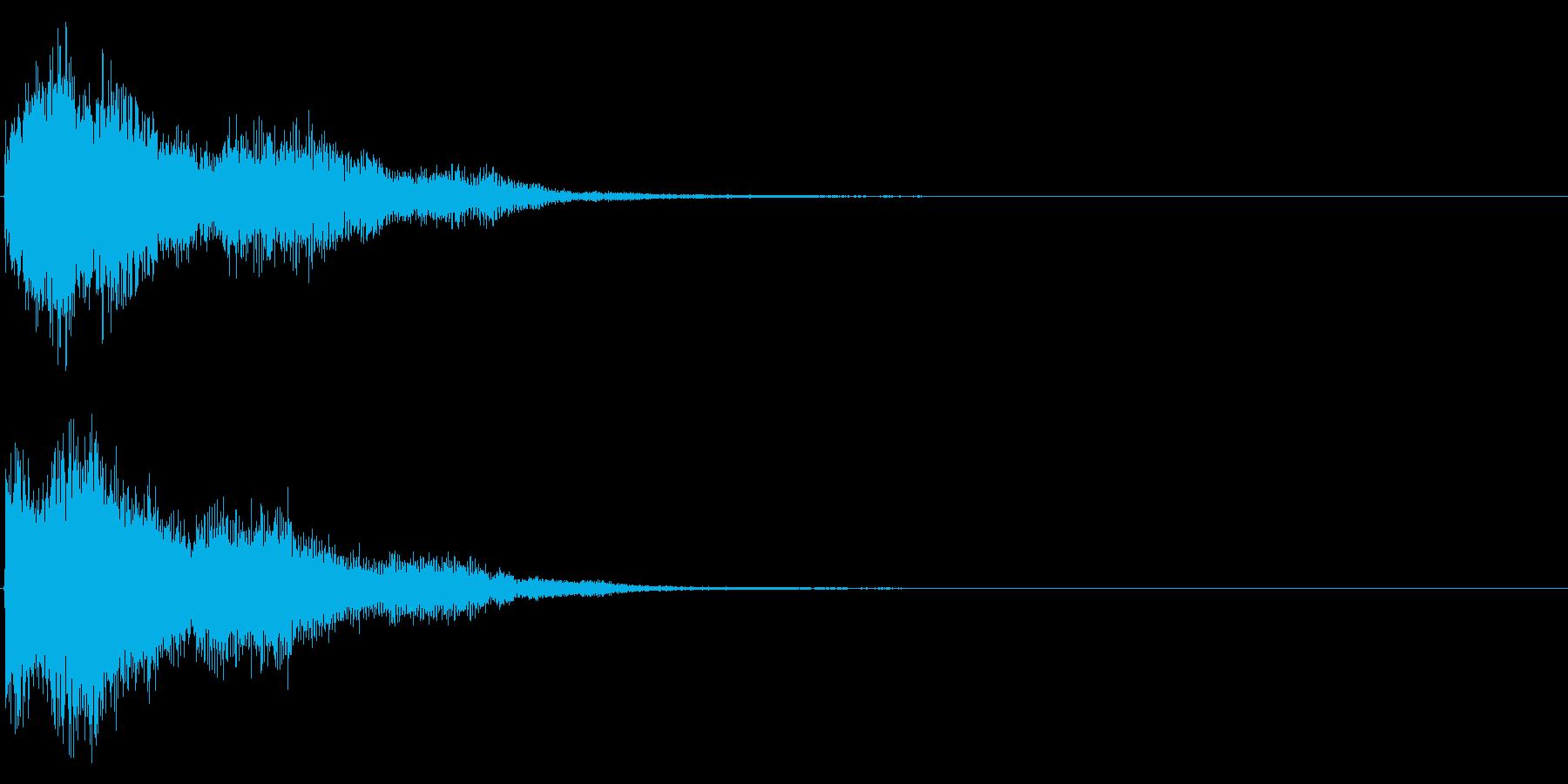 ゲームスタート、決定、ボタン音-065の再生済みの波形