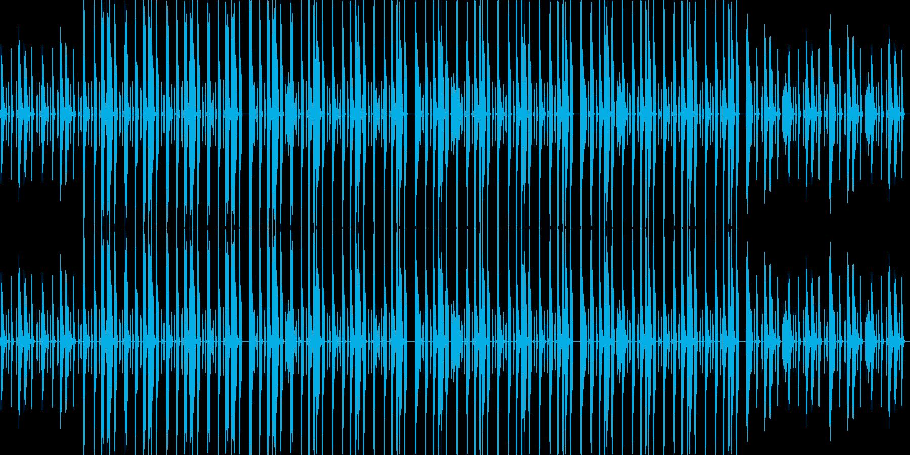 ベースが中心のファンキーなグルーヴの再生済みの波形