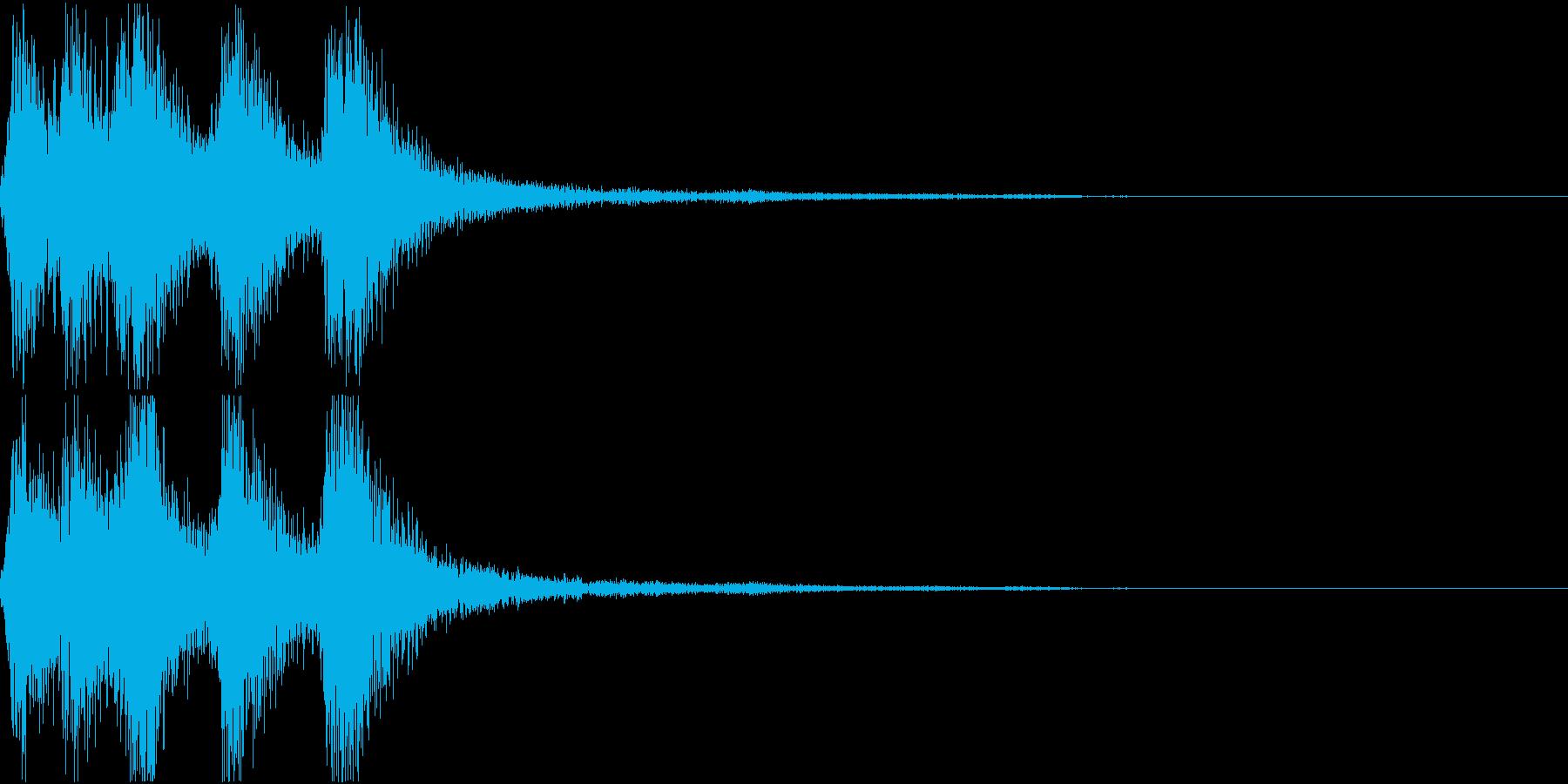 ラッパ ファンファーレ 定番 13 早いの再生済みの波形