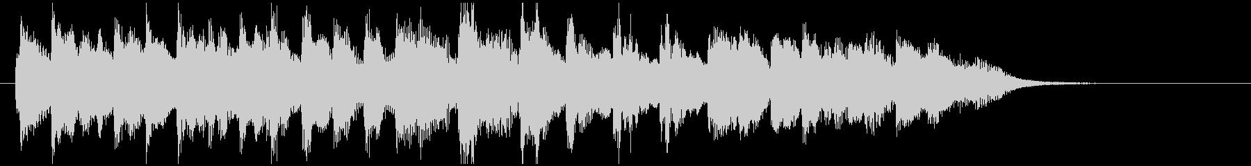 ホンキートンクピアノのジングルの未再生の波形