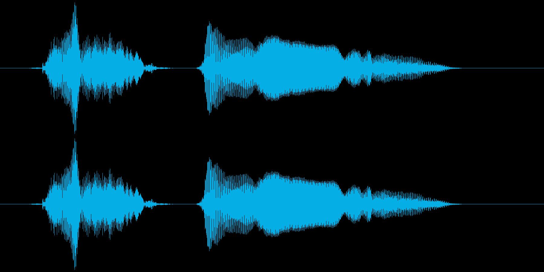 ちょっと〜の再生済みの波形