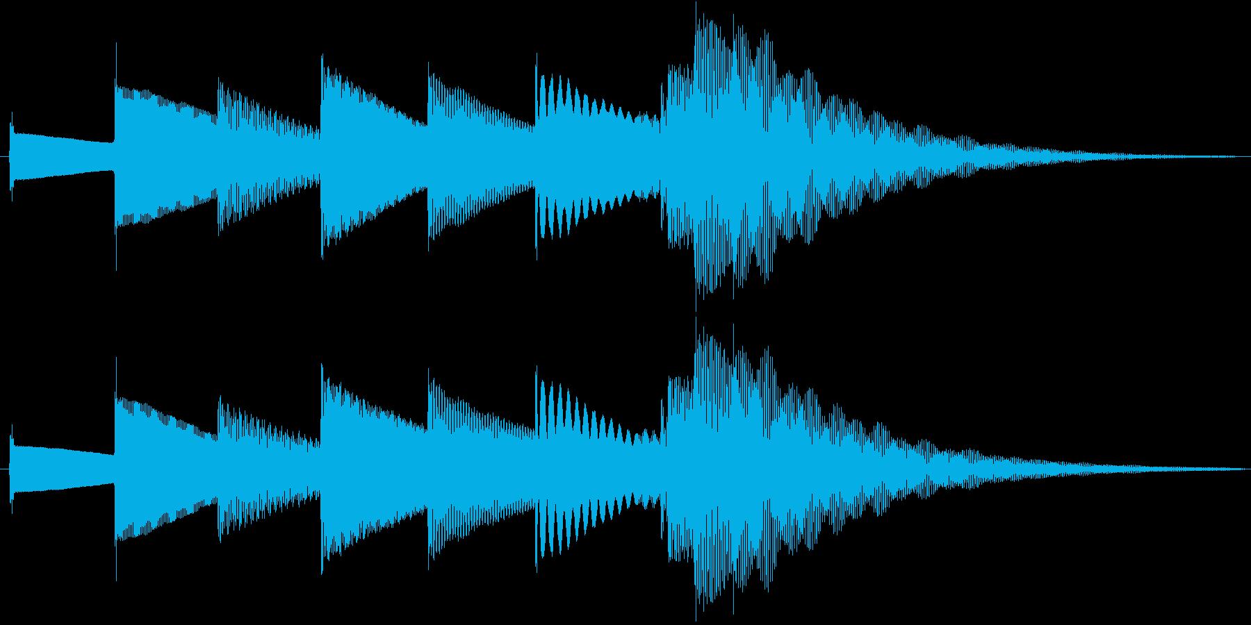おやすみ【1フレーズの短いオルゴール曲】の再生済みの波形