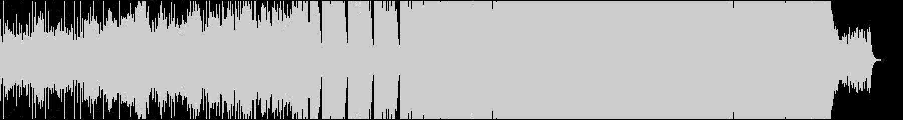 和風インダストリアル曲の未再生の波形