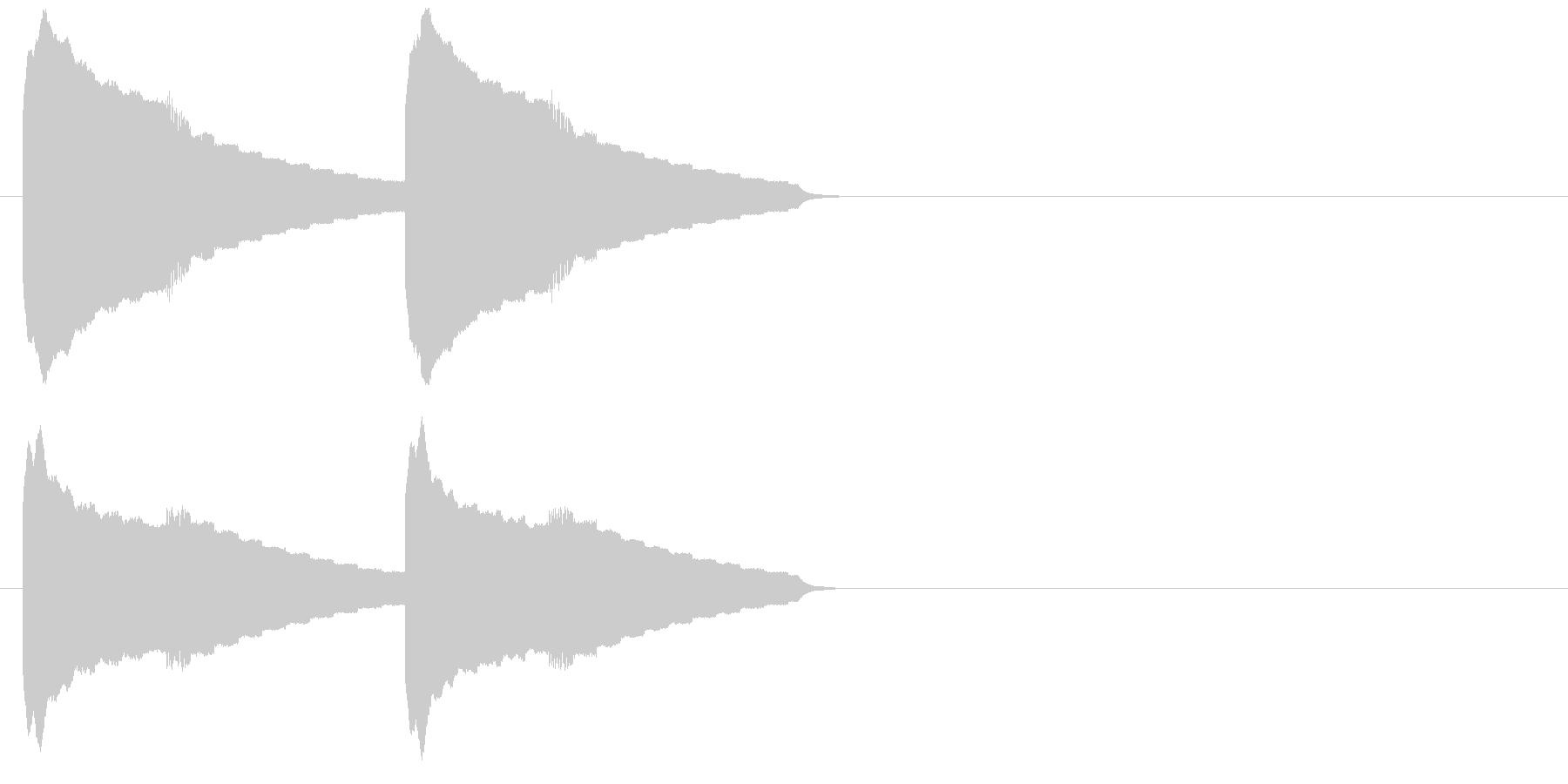 ピンポンピンポン(呼出音)の未再生の波形