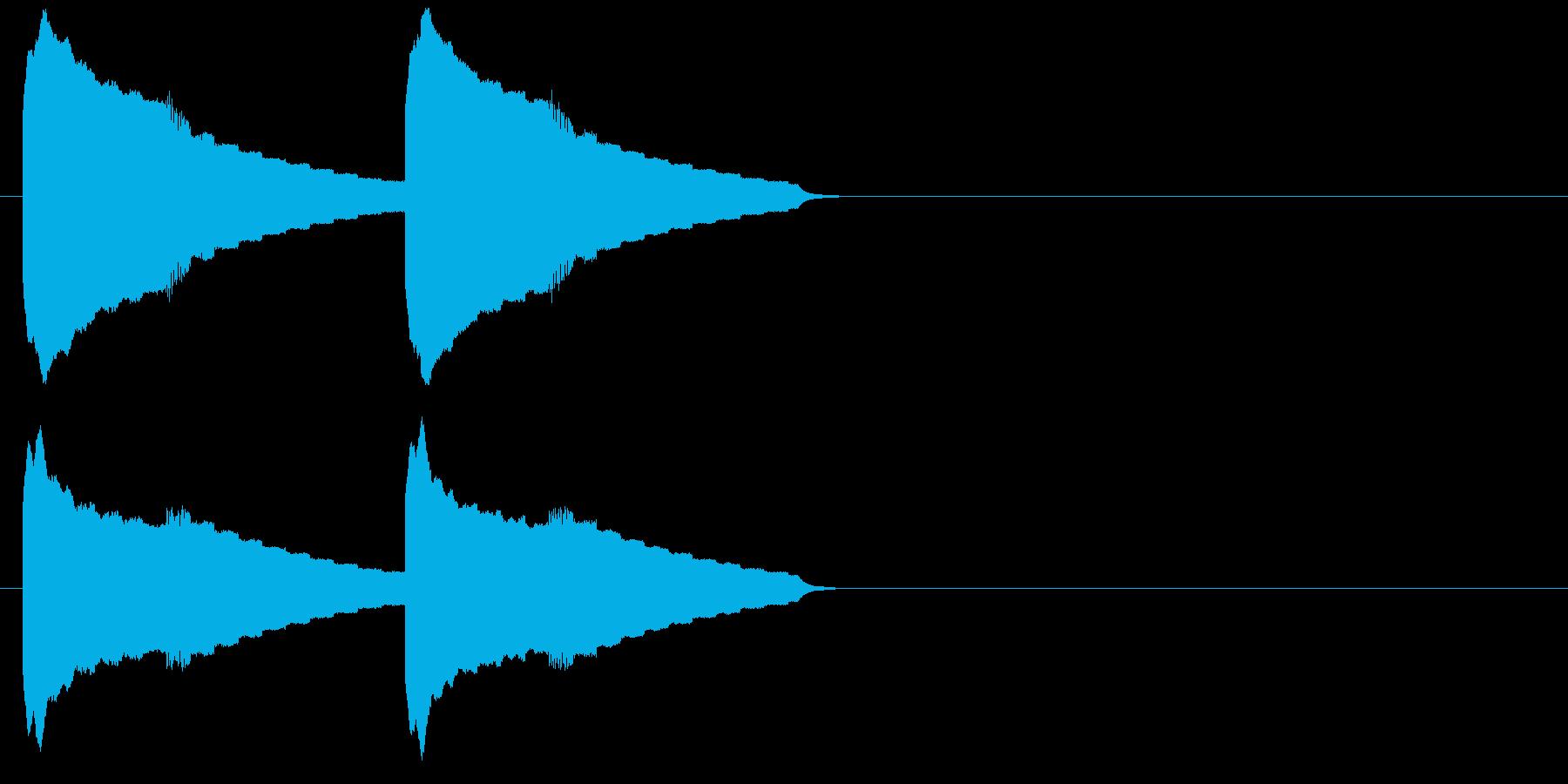 ピンポンピンポン(呼出音)の再生済みの波形