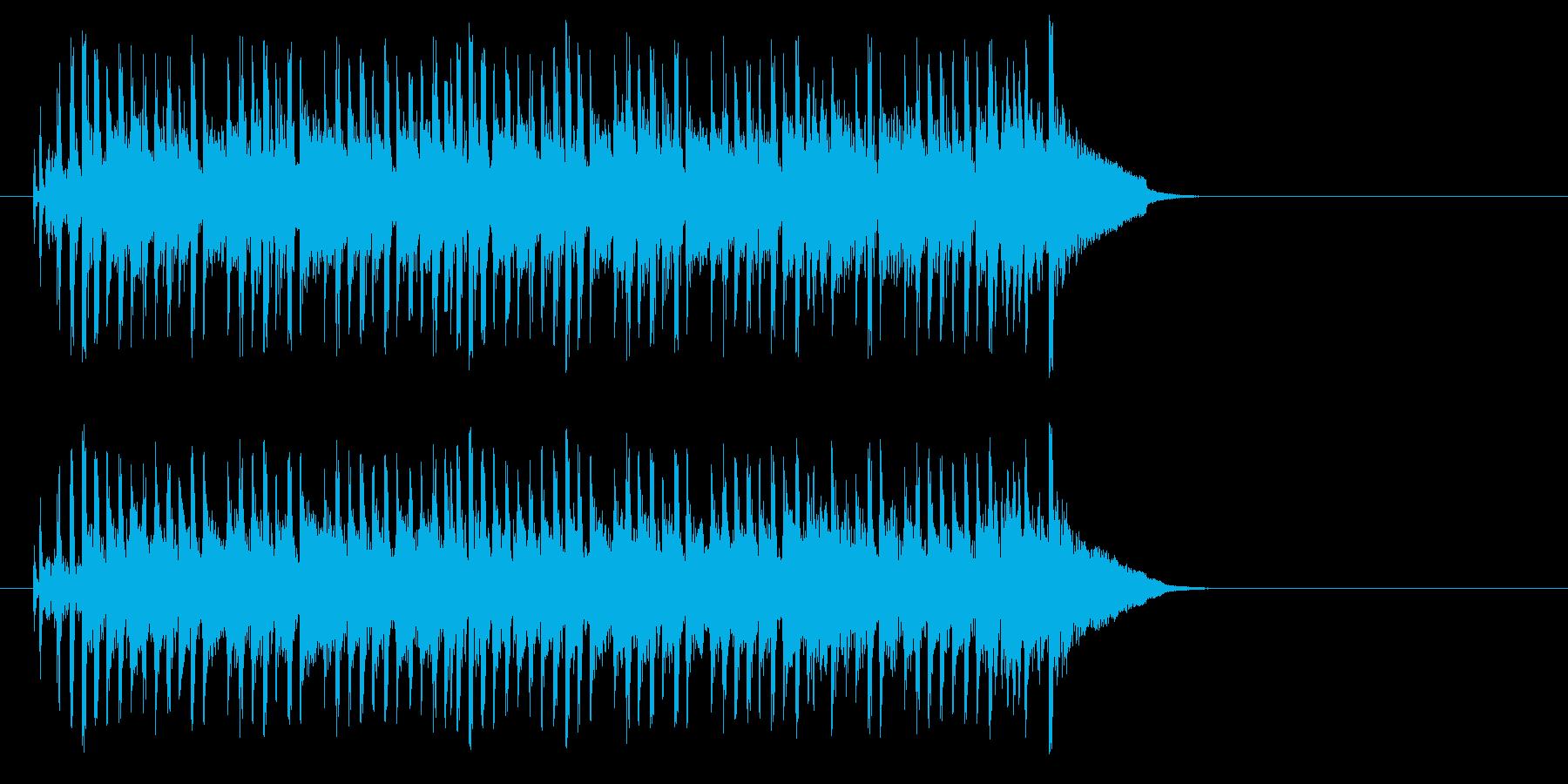 テンポの良いポップ(イントロ)の再生済みの波形