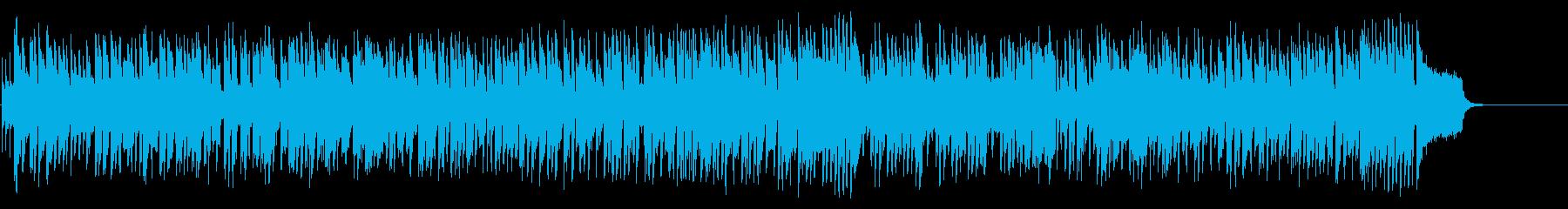 サックスによる淡々と前進するようなポップの再生済みの波形