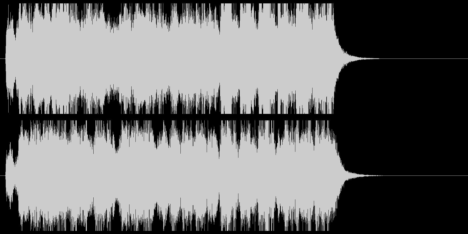 軽快で勢いあるオーケストラ風ジングルの未再生の波形