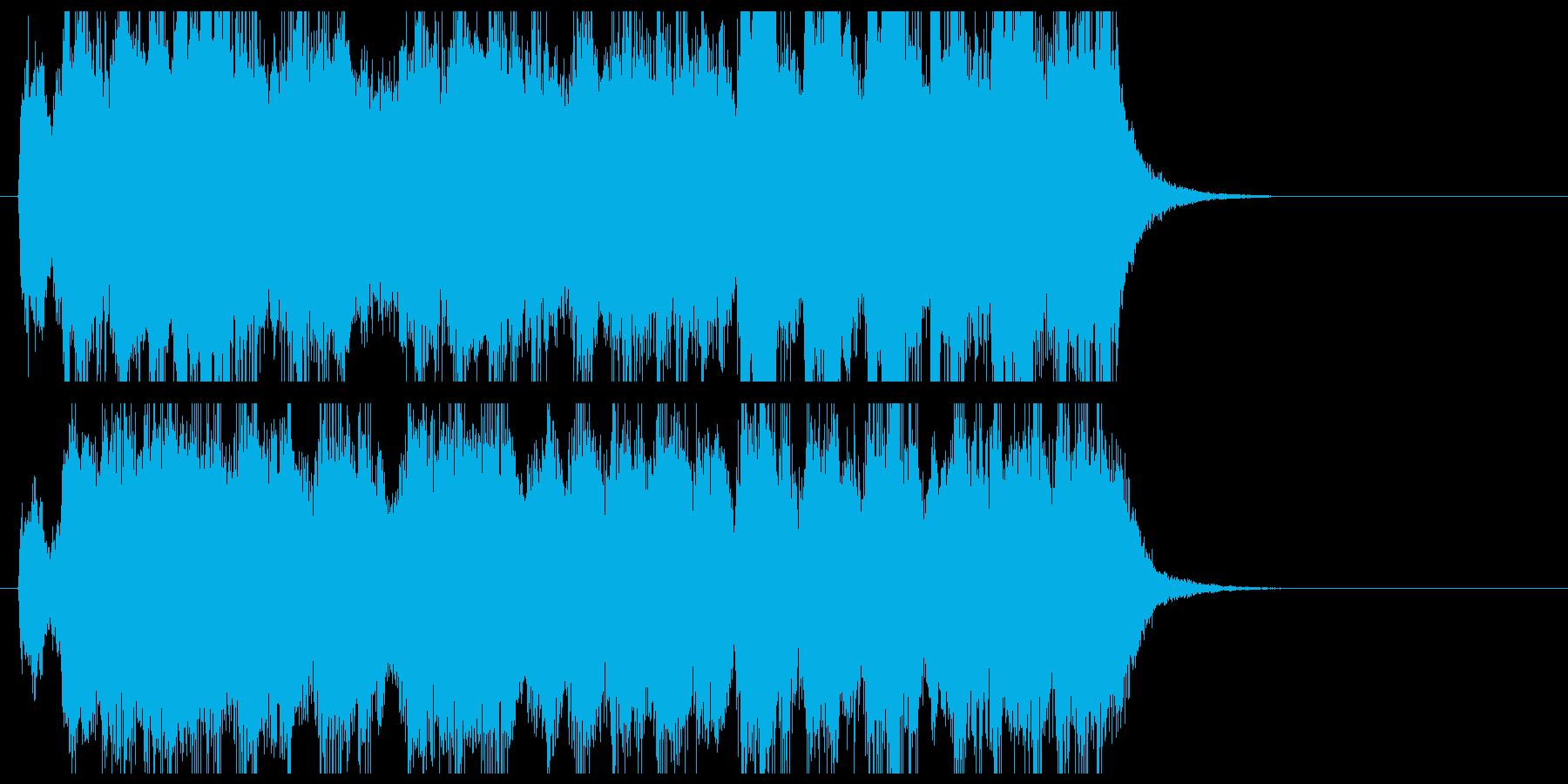 軽快で勢いあるオーケストラ風ジングルの再生済みの波形