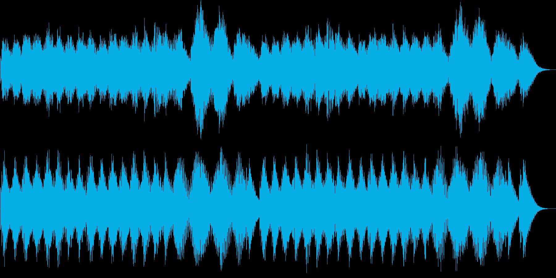 しっとり感のシンセサイザーサウンドの再生済みの波形
