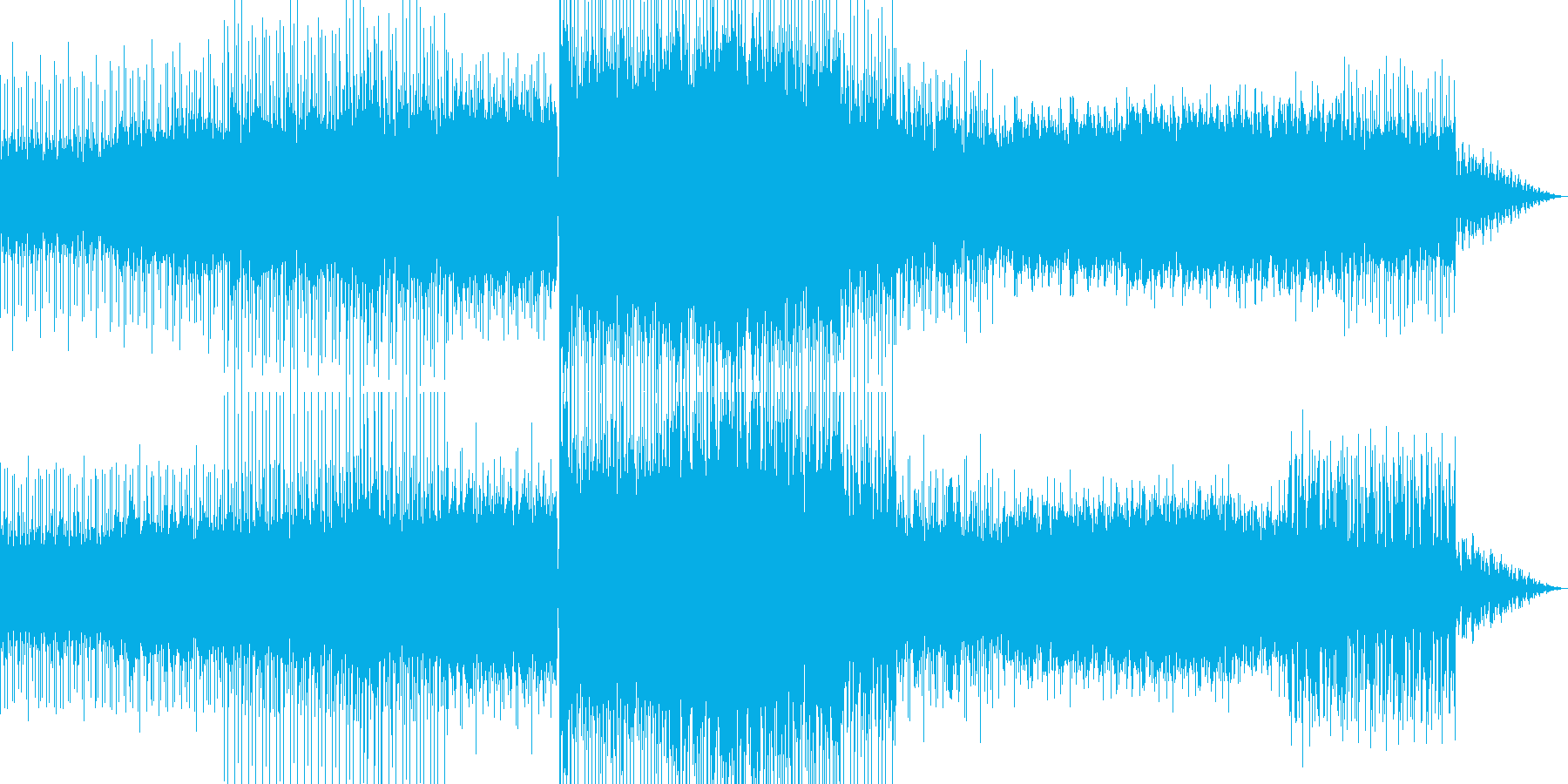 幻想的なチルアウトBGMの再生済みの波形