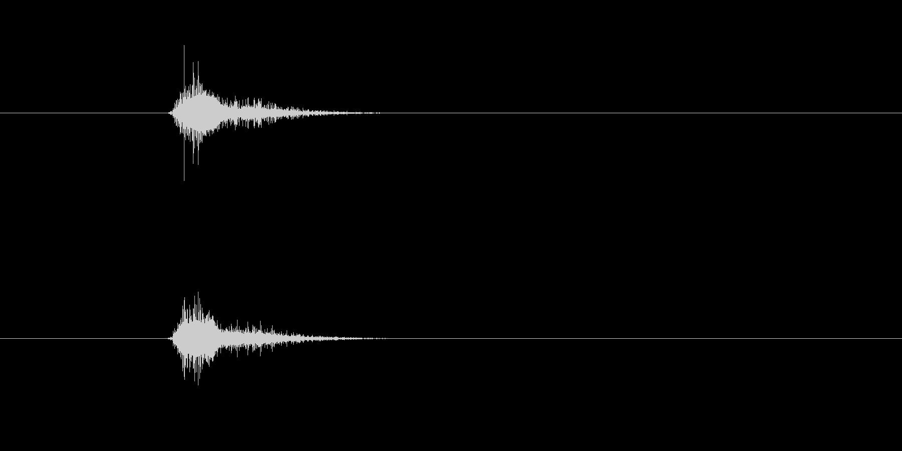 ぶんっ 棒などを勢いよく振り回す音 素…の未再生の波形
