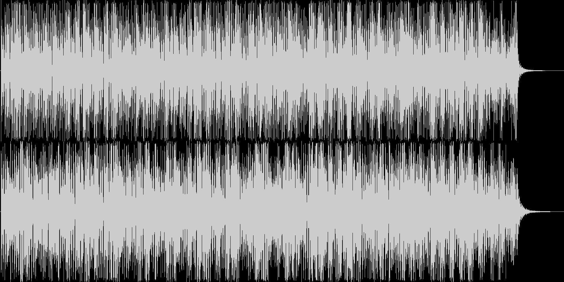 ミニマルなテクノ系BGMの未再生の波形