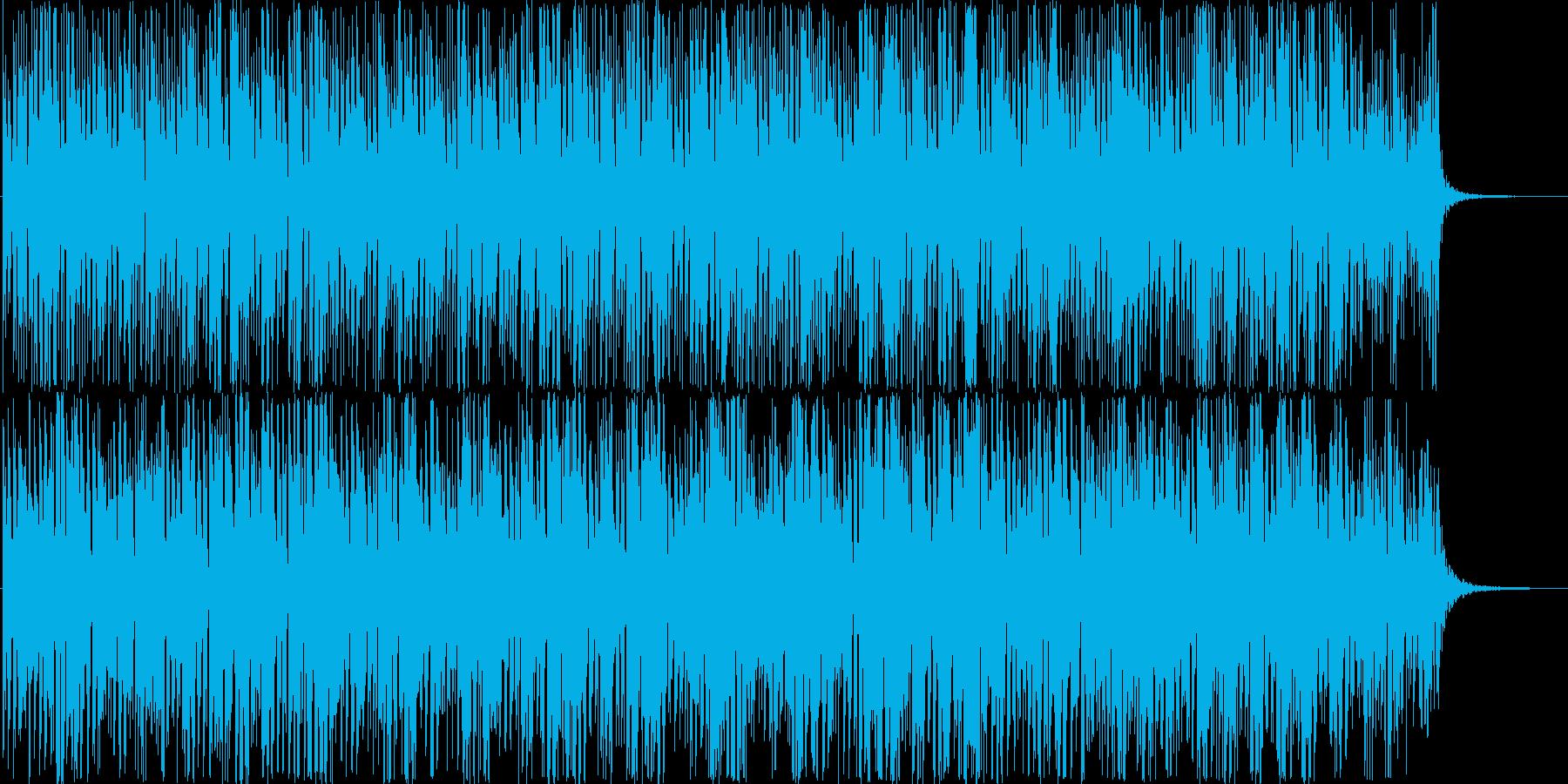 ミニマルなテクノ系BGMの再生済みの波形