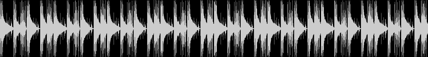 エレクトリックピアノが響く静かなループ曲の未再生の波形