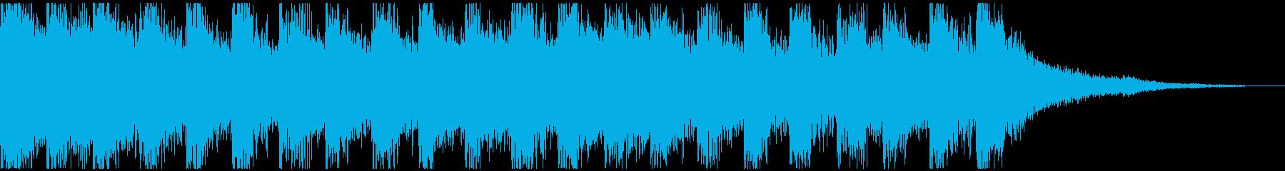 怪しくてメルヘンチックなジングルの再生済みの波形