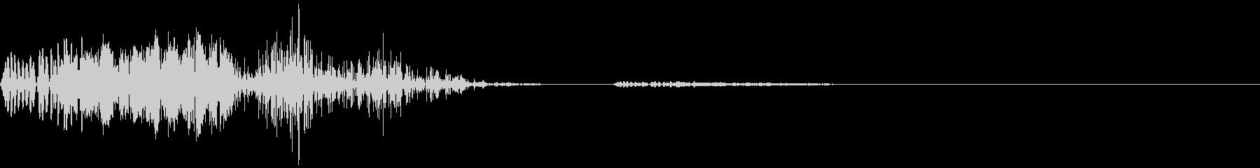 シューティングゲームのショット音の未再生の波形