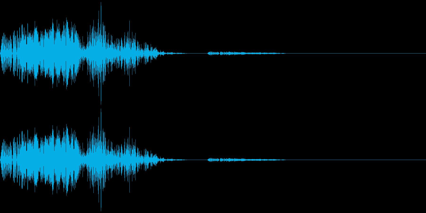 シューティングゲームのショット音の再生済みの波形