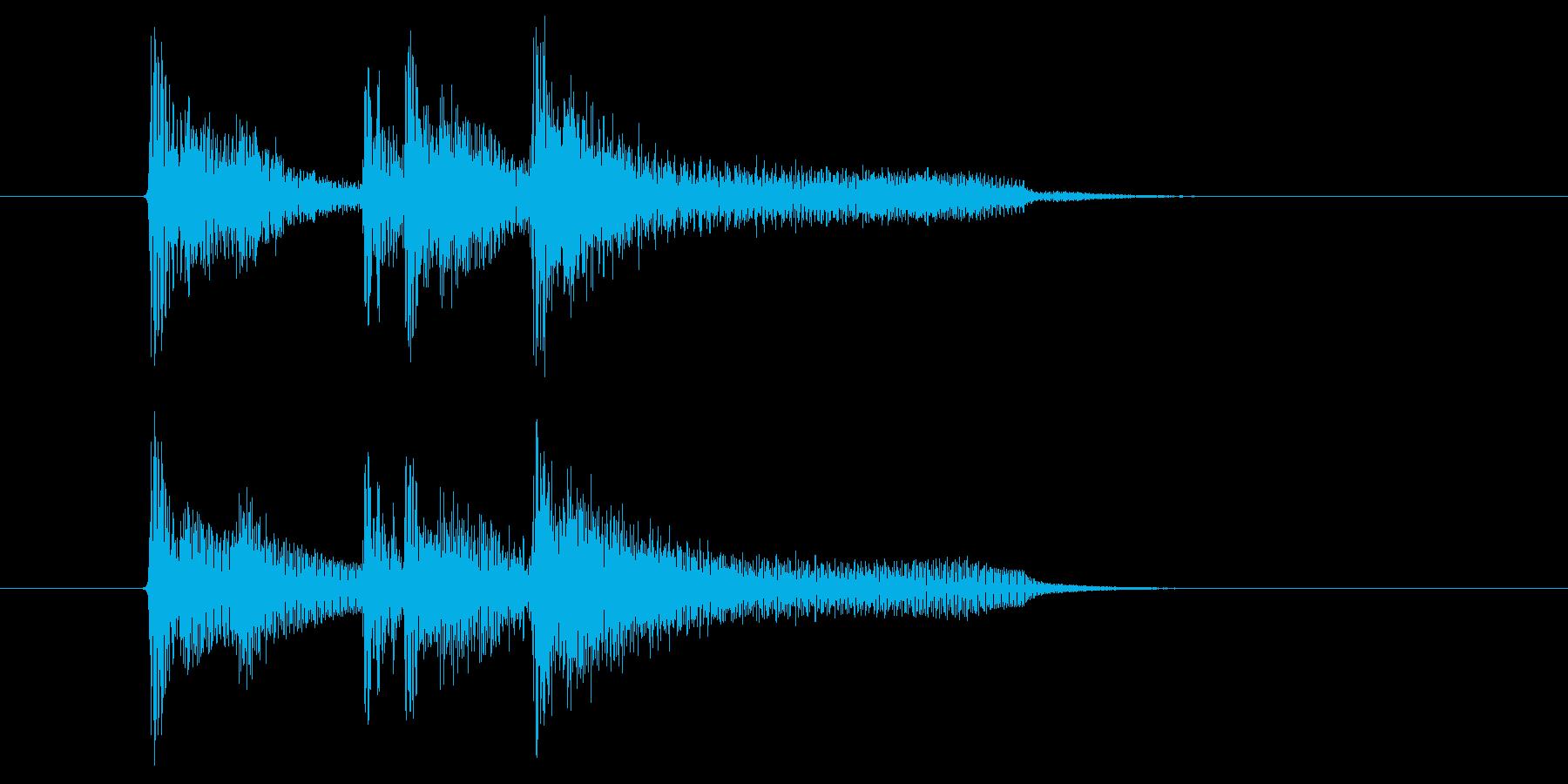 おしゃれでジャジーな打楽器ピアノサウンドの再生済みの波形