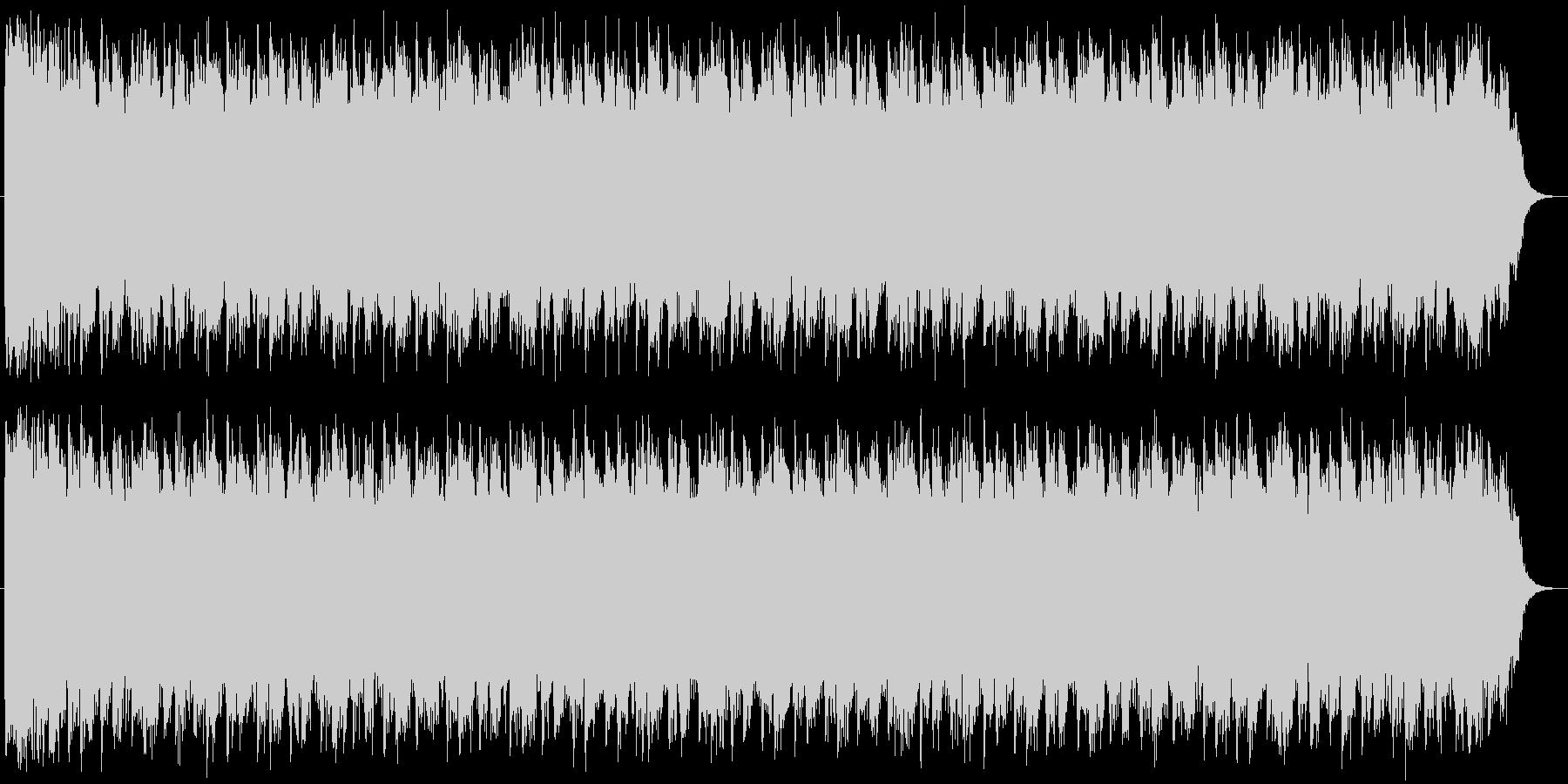 緊迫した場面をイメージさせるホラーBGMの未再生の波形