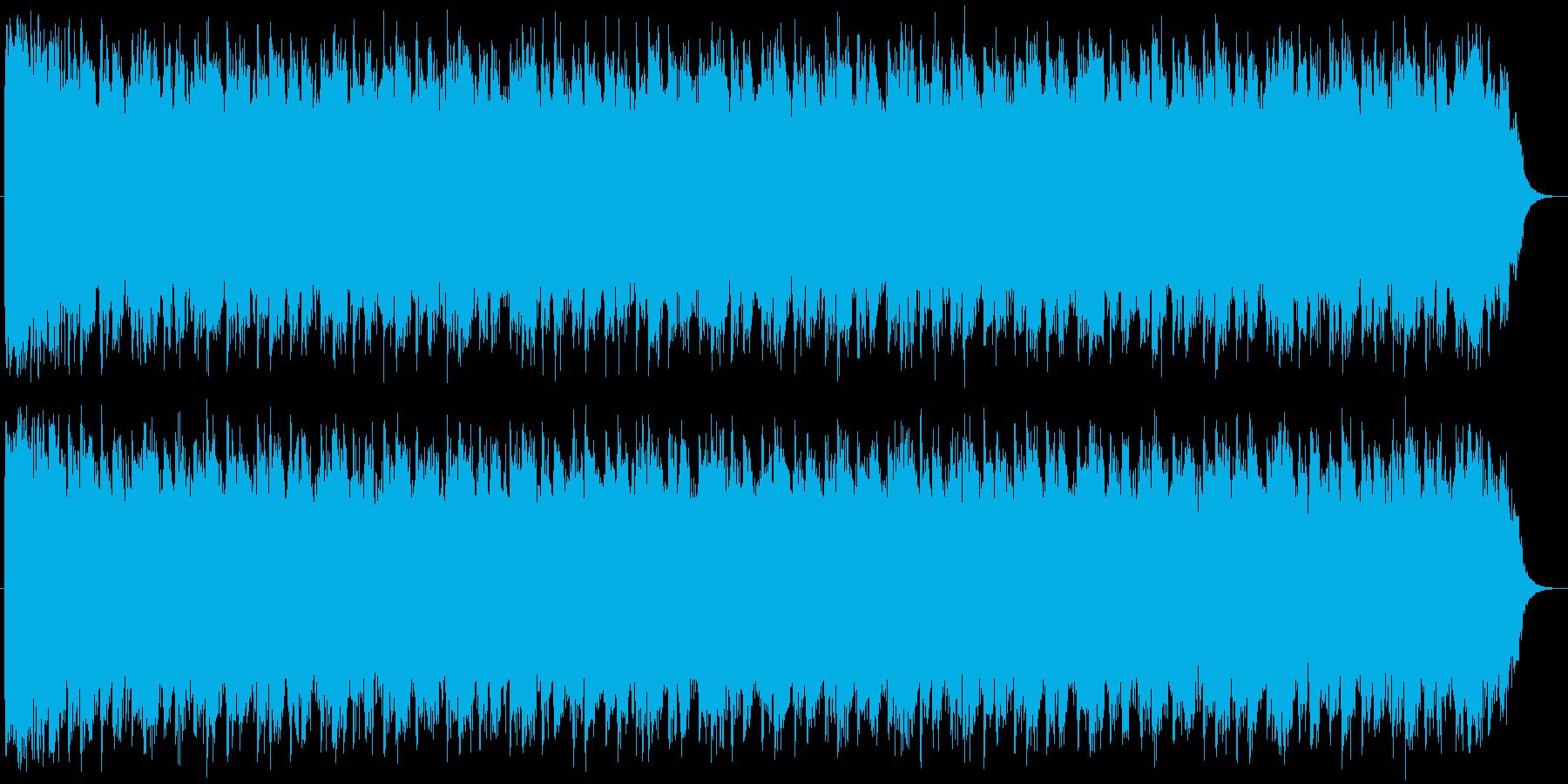 緊迫した場面をイメージさせるホラーBGMの再生済みの波形
