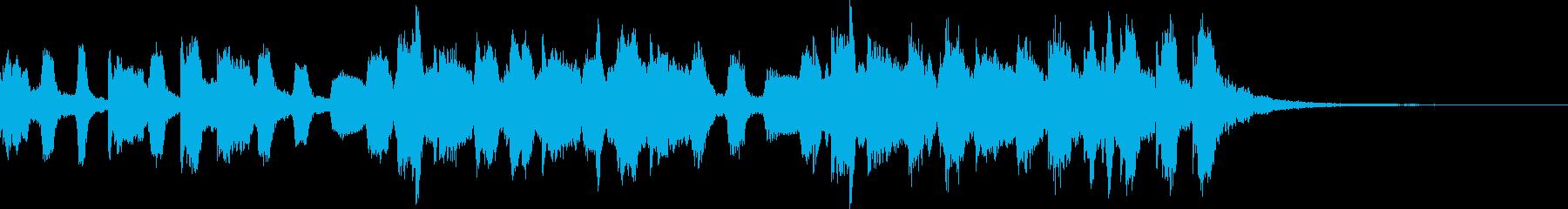 きらきらとしたジングル風BGMの再生済みの波形