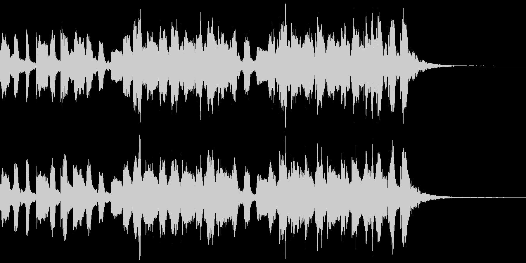 きらきらとしたジングル風BGMの未再生の波形