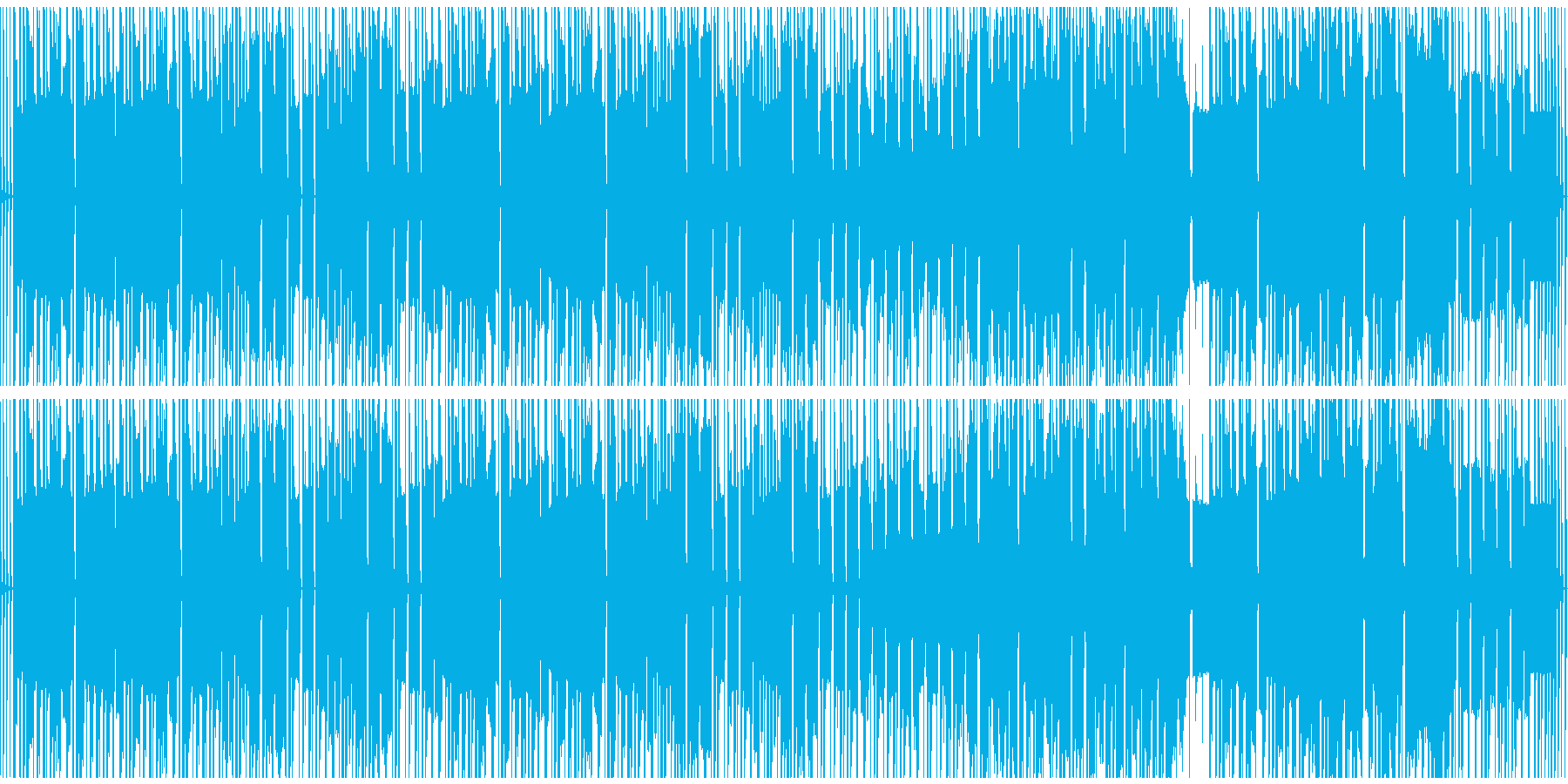 ループ仕様、気だるい、ほのぼのBGMの再生済みの波形