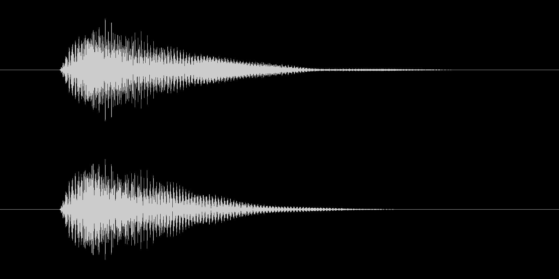 ボタンを押した時の取り消しや決定音ですの未再生の波形